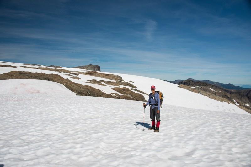 Mary on the Comox Glacier