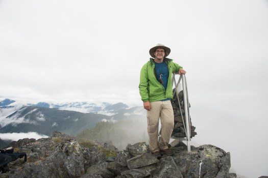 Phil Jackson on the summit of Horseshoe Mountain