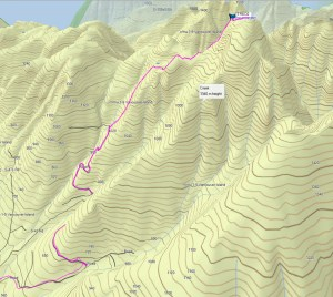 Trio Mountain GPS route and Map