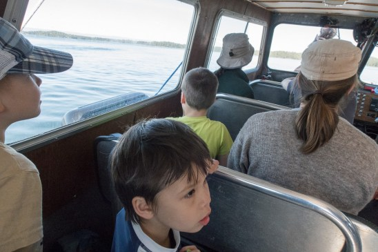 on the water taxi, heading to Wild Side Trail