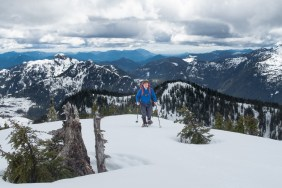 hiking to Mount Spencer, Vancouver Island, Snowshoeing
