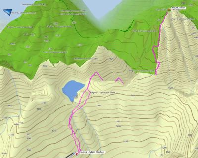Hiking Route to Mount Judson and GPS route