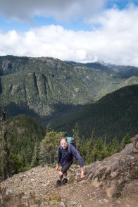 hiking to Big Den Mountain on Vancouver Island in Strathcona Park
