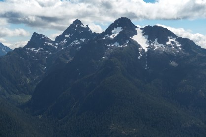 hiking to Big Den Mountian in Strathcona Park on Vancouver Island