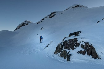 Rick on the slopes of Adder Mountain