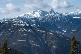 a view from the hiking route to Tyee Mountain in Strathcona Park