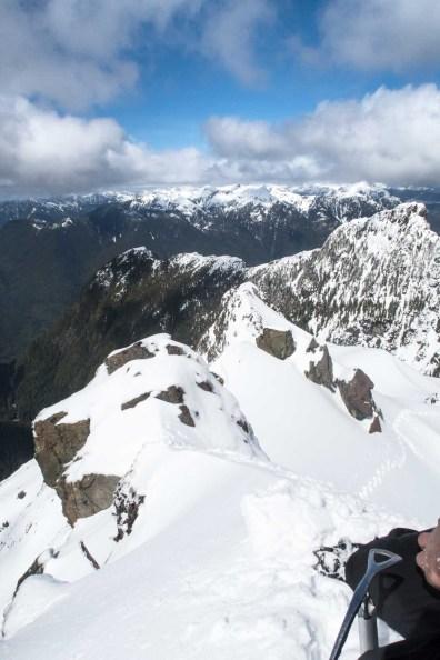 from the summit of Canoe Peak