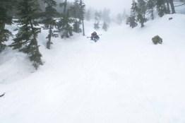 Descending Mount Adam via butt-slide