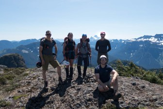 hiking up to Eden Mountain on Vancouver Island