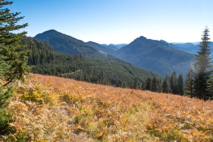 hiking to Green Mountain on Vancouver Isalnd