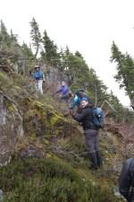 kids hiking to Gemini Mountain