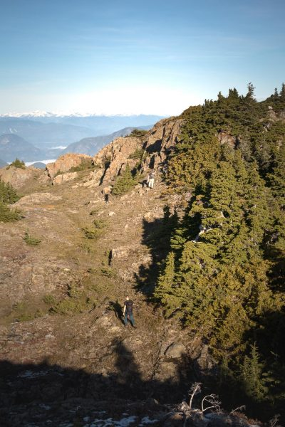 hikin got mount Roberts in the Prince of Wales Range on Vancouver Island