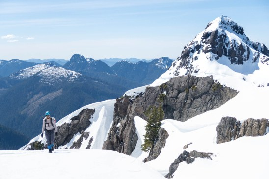 Rishi and a subpeak on Zeballos ridge in the background.