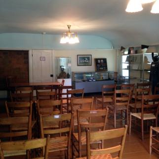Inside of Baptist Meeting House in Ontario, NY