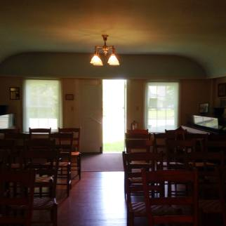 Inside the Baptist Meeting House in Ontario, NY