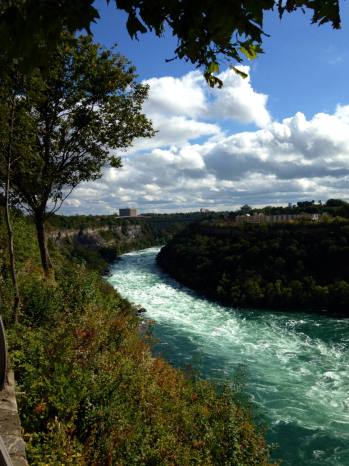 The Niagara River between USA and Canada