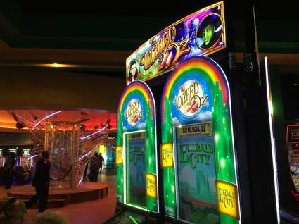 Wizard of Oz Gaming Machines in the Yellow Brick Road Casino