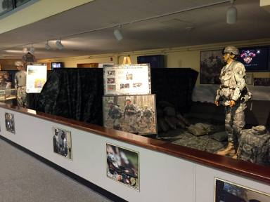 Inside the Visitor's Center at West Point, New York