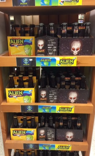 Alien Beer in Alberstons