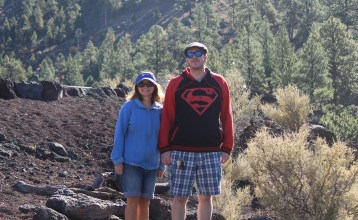Me & Kris at Sunset Crater NM