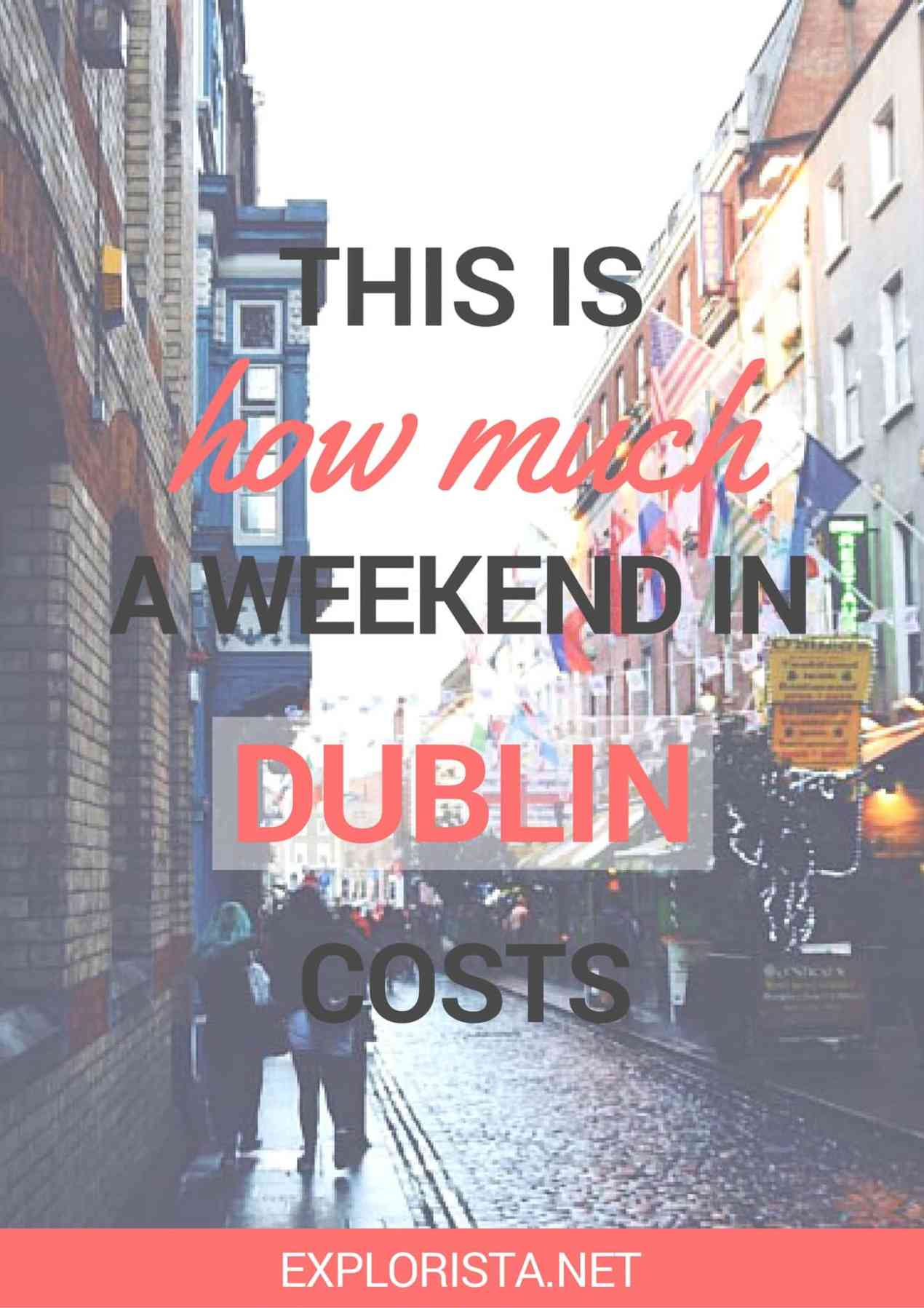 This is how much to budget for a weekend in Dublin!