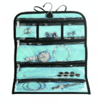 Never untangle your necklaces again with an easy storage solution like this jewelry roll.