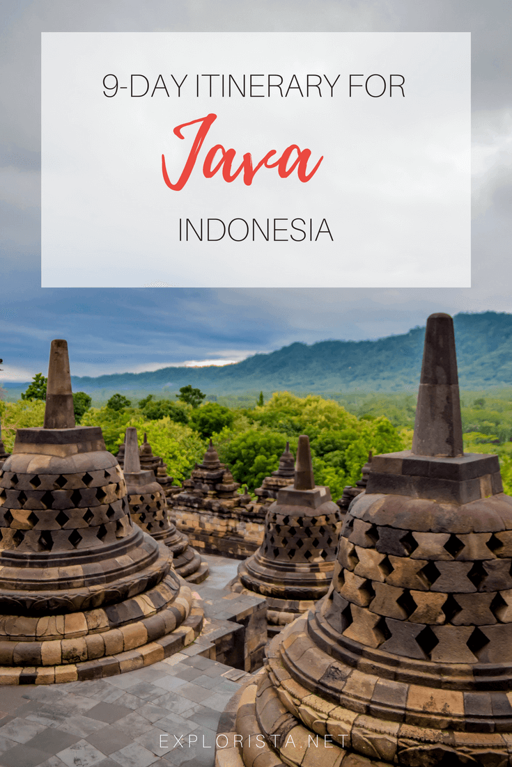 This is my 9-day itinerary for the island of Java in Indonesia.