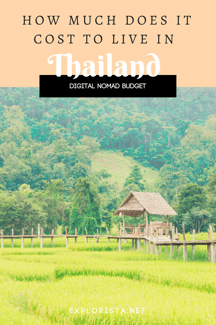 How much does it cost to live in Thailand as a digital nomad?
