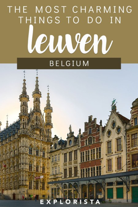 Wondering what the best things to do in Leuven, Belgium are? From the best places to eat to classic landmarks, it's all in this travel guide! #belgium #leuven #thingstodoinleuven #belgiumtravel