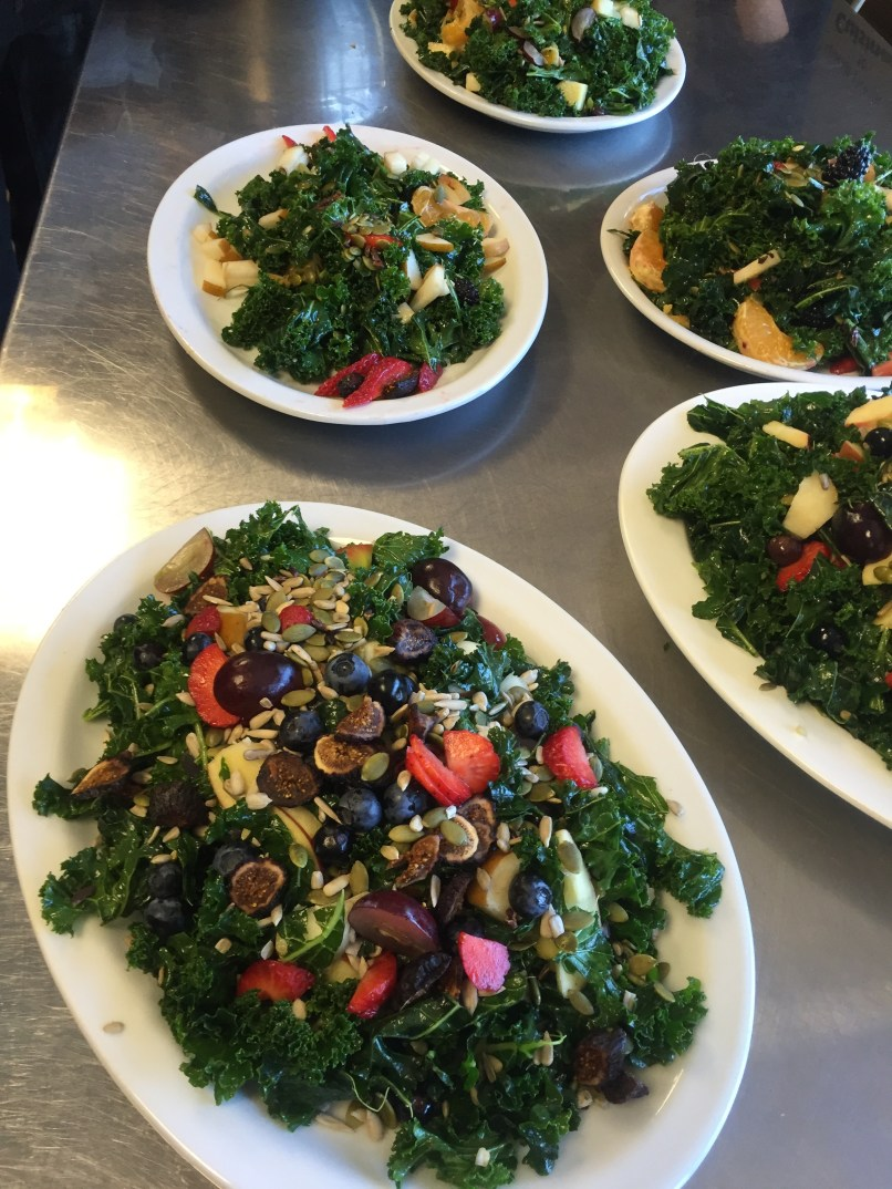 The kale salad intuitive creations. Tasty & beautiful