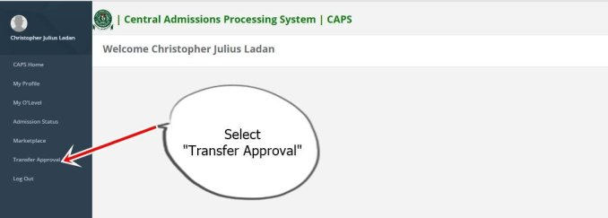jamb transfer aproval