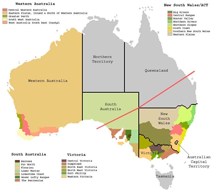 οίνοι Αυστραλία