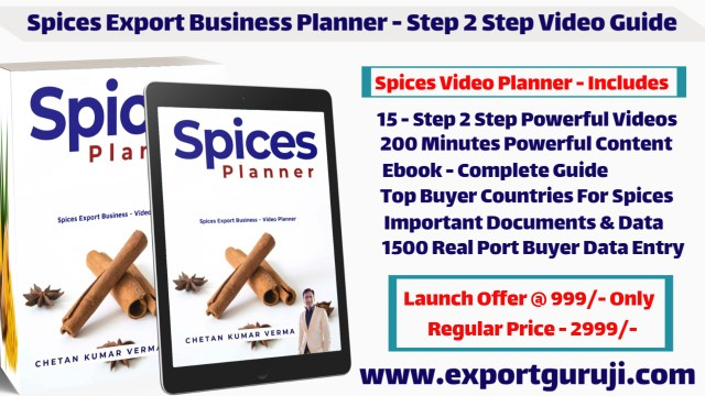 free Spices export planner learn hwo to start spices export from india get genuine buyer