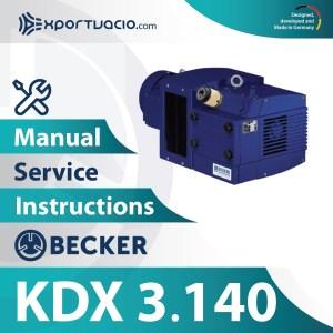 Becker KDX 3.140 Manual