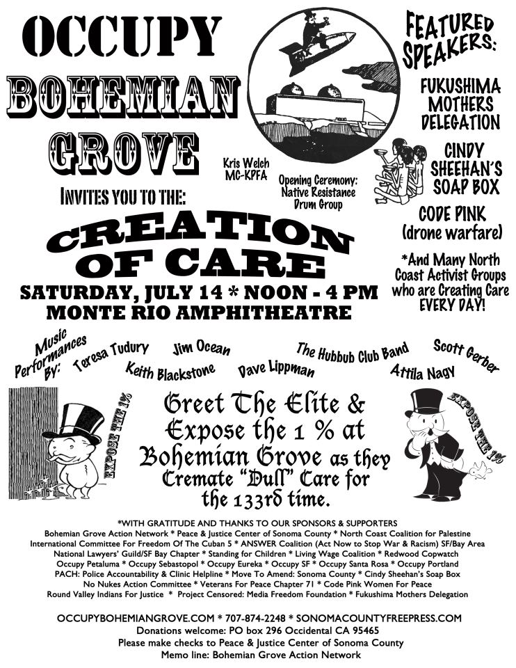Occupy Bohemian Flyer