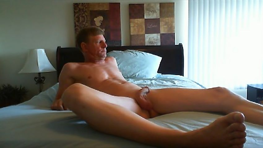 David Steckel naked on bed