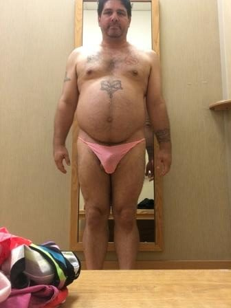 Cockslut Christopher Marc Wearing Panties