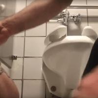 Cockslut christopher marc sucks cock under stall