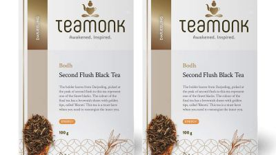 Teamonk Bodh Darjeeling Organic Black Tea, Second Flush Loose Leaf Black Tea, 200g