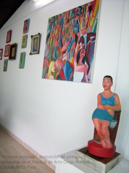 "Espacio de arte Diego Manuel, Art Showroom, Sala blanca ,""Mujeres pintadas"", pinturas y esculturas, paintings and sculptures, Marzo de 2016"