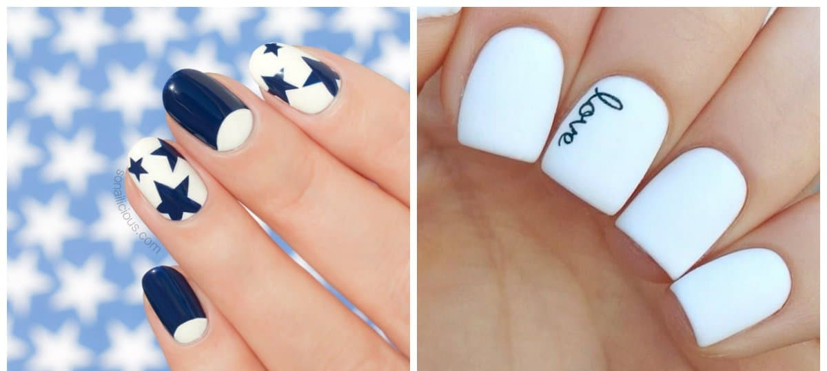 white nail polish design