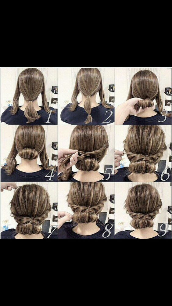 easy updos for medium hair step by step