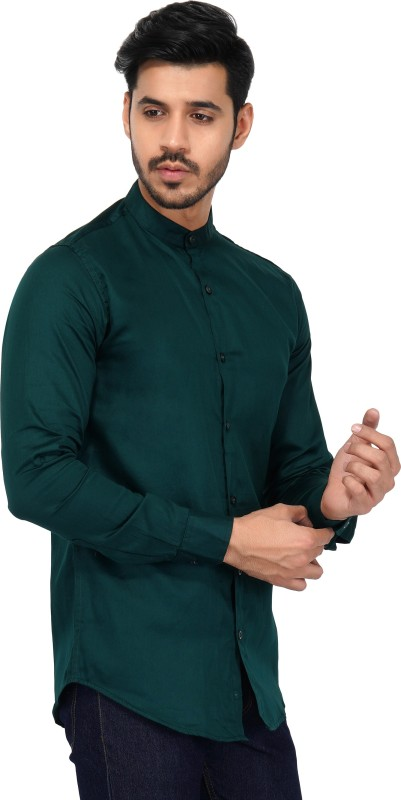 dark green shirt