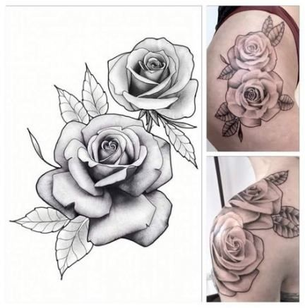 roses flowers tattoos
