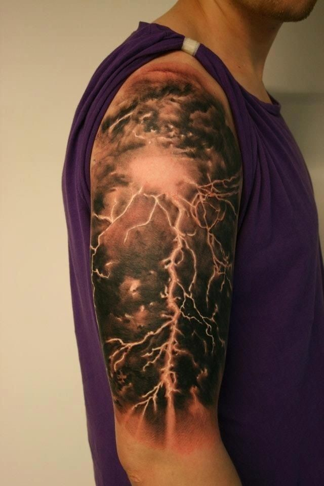 lightning strike tattoo