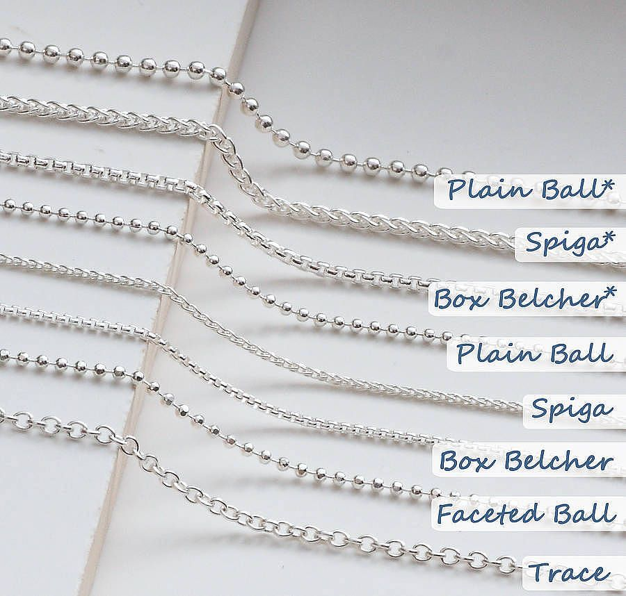 different types of necklace chains