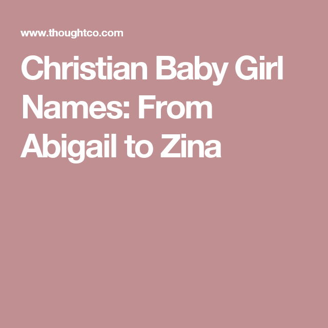 christian names for girls