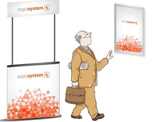 Masă sampling și ramă click – pentru o promovare a serviciilor ca la carte