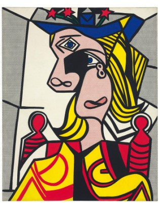 Woman With Flowered Hat / Roy Lichtenstein
