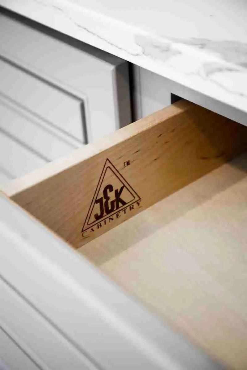 J&K Cabinetry Greige Kitchen Drawer